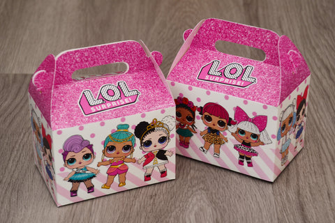 LOL Surprise Dolls Favor Boxes / Treat Boxes / Gift Boxes