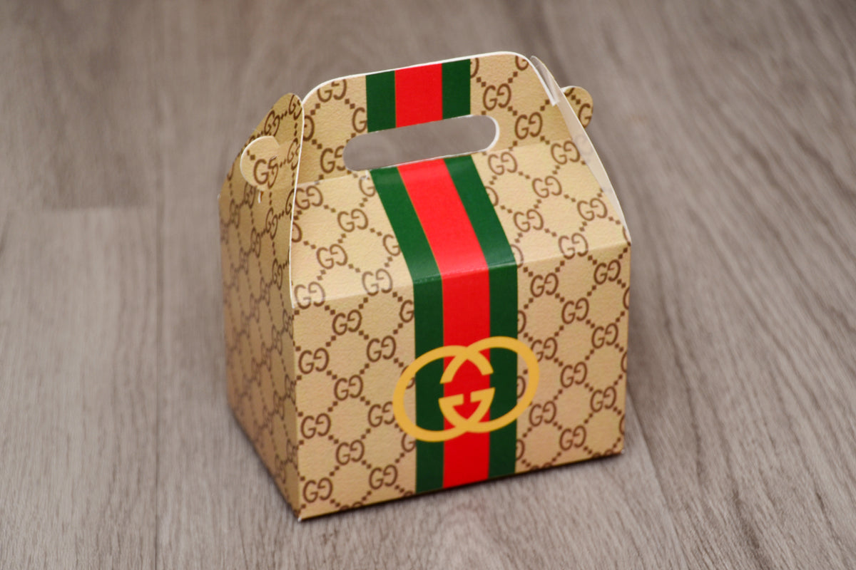 Beige Gucci Fashion Favor Boxes / Treat Boxes / Gift Boxes
