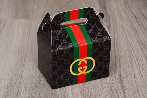 Black Gucci Fashion Favor Boxes / Treat Boxes / Gift Boxes