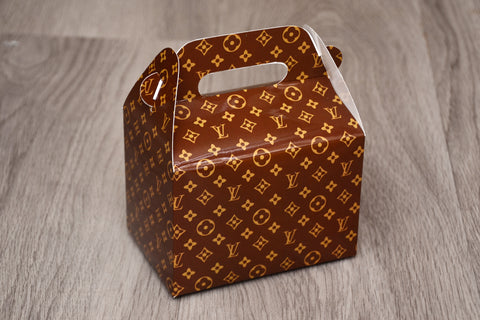 Brown LV Louis Vuitton Fashion Favor Boxes / Treat Boxes / Gift Boxes