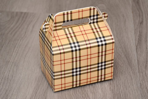 Burberry Fashion Favor Boxes / Treat Boxes / Gift Boxes