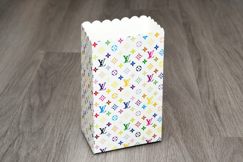 White LV Louis Vuitton Fashion Favor Boxes / Treat Boxes / Gift Boxes
