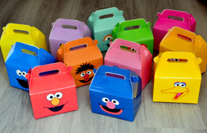 Assorted Sesame Street Favor Boxes / Treat Boxes / Gift Boxes
