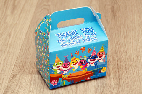 Baby Shark Favor Boxes / Treat Boxes / Gift Boxes