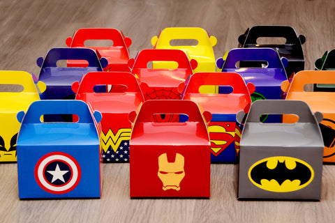 Assorted Marvel Avengers Superheroes Favor Boxes / Treat Boxes / Gift Boxes