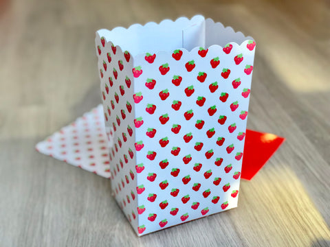 Strawberry Favor Boxes / Treat Boxes / Popcorn Boxes