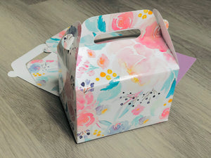 Watercolor Floral Favor Boxes / Treat Boxes / Gift Boxes
