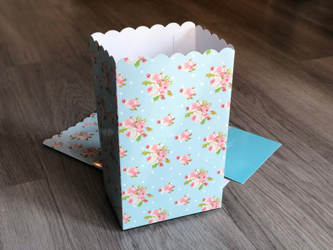 Shabby Chic Floral Favor Boxes / Treat Boxes / Popcorn Boxes