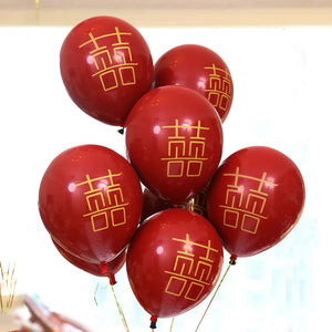 Chinese Double Happiness Wedding Balloons