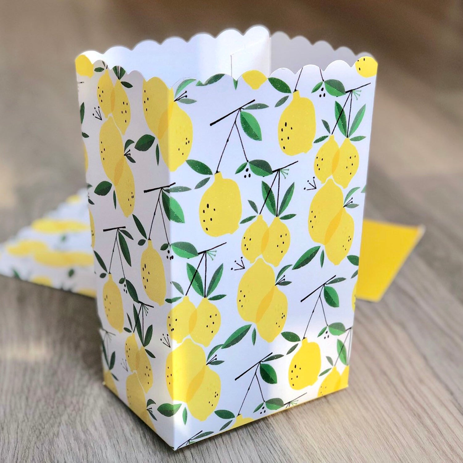 Lemon Pattern Favor Boxes / Treat Boxes / Popcorn Boxes
