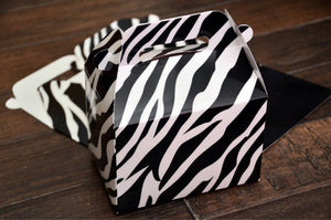 Animal Print Safari Themed Zebra Print Favor Boxes Favor Boxes / Treat Boxes / Gift Boxes