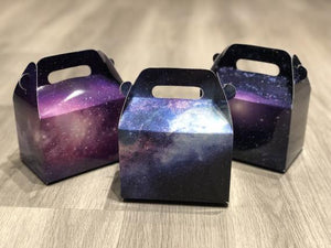 Assorted NASA Galaxy Flashing Stars Night Universe Favor Boxes / Treat Boxes / Gift Boxes