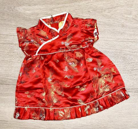 Chinese Dragon and Phoenix Cheongsam for Baby Girl Toddler
