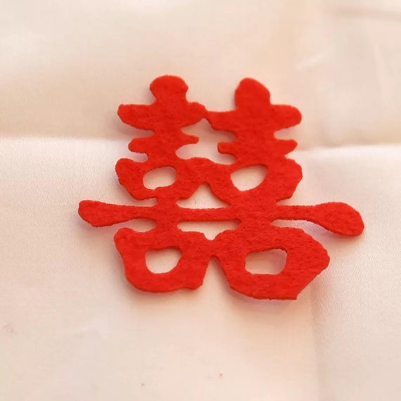 100 Chinese Wedding Double Happiness Embellishment Confetti