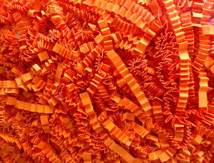 Neon Orange Shred Crinkle Paper Basket / Gift Box Filler