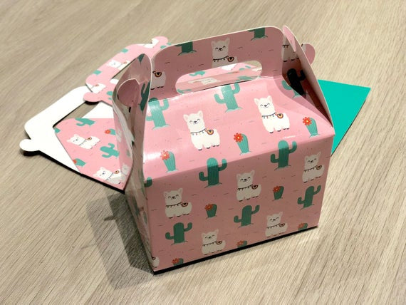 Alpaca Llama Pattern Favor Boxes / Treat Boxes / Gift Boxes