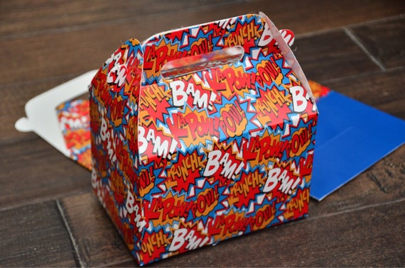 Bam! Pow! Superhero Favor Boxes / Treat Boxes / Gift Boxes