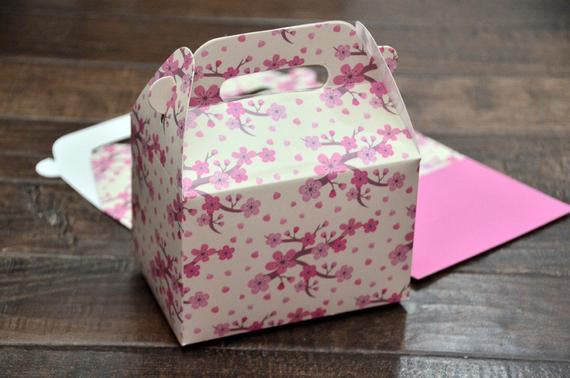 Cherry Blossoms Sakura Favor Boxes / Treat Boxes / Gift Boxes