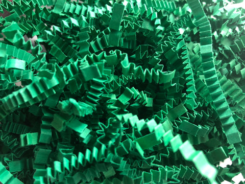 Green Shred Crinkle Paper Basket / Gift Box Filler