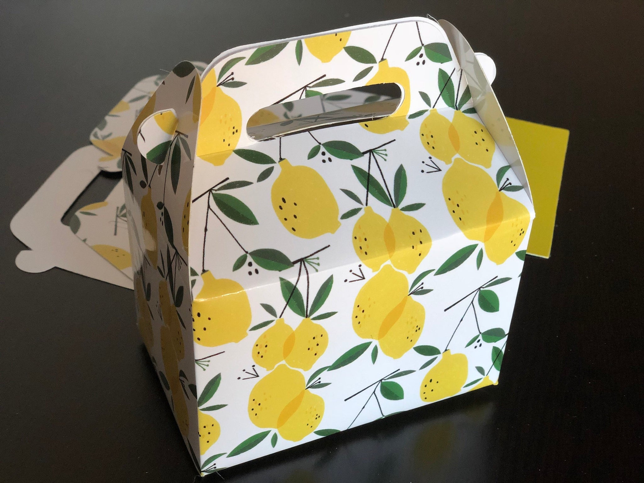 Lemon Pattern Favor Boxes / Treat Boxes / Gift Boxes