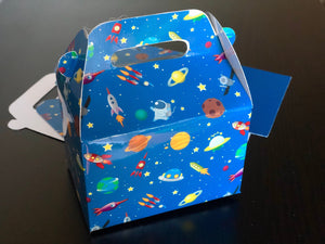 NASA Space Rocket Galaxy Favor Boxes / Treat Boxes / Gift Boxes
