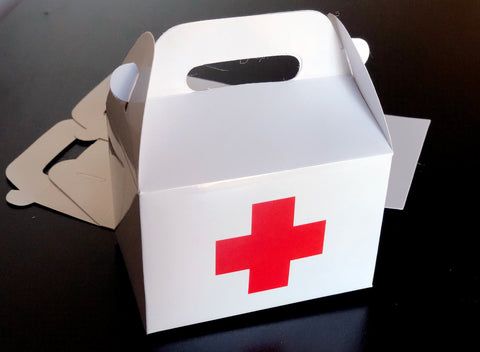 First Aid Emergency Kit Recovery Red Cross Favor Boxes / Treat Boxes / Gift Boxes