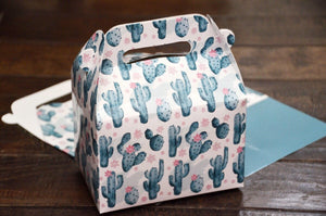 Succulent Cactus Pattern Favor Boxes / Treat Boxes / Gift Boxes