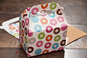 Donut Pattern Favor Boxes / Treat Boxes / Gift Boxes