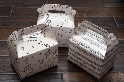 Assorted Musical Notes / Music Themed Favor Boxes / Treat Boxes / Gift Boxes