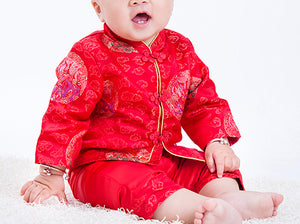 Chinese Traditional Cheongsam for Baby Boy Toddler