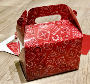 Red Western Bandana Pattern Boxes / Treat Boxes / Gift Boxes