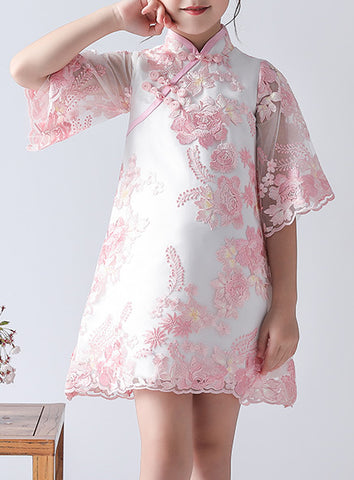 Pink Cheongsam Dress for Girls