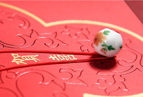 Double Happiness Chinese Wedding Red Money Envelopes