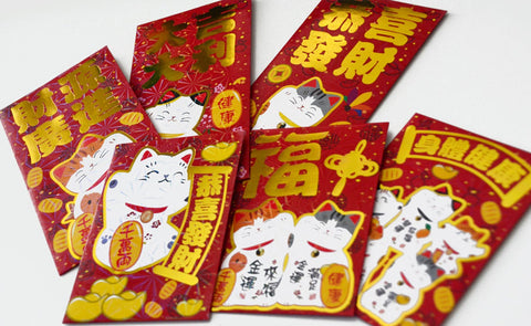 Chinese New Year of the Pig 2019 Lucky Cat Holographic Money Envelopes
