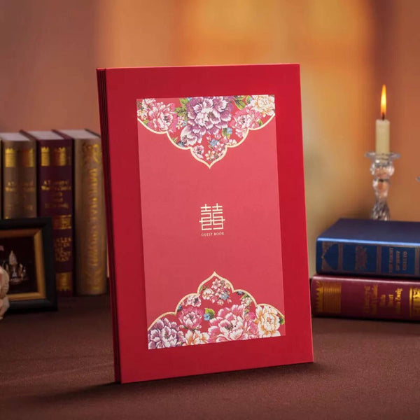Chinese Wedding Double Happiness Guestbook