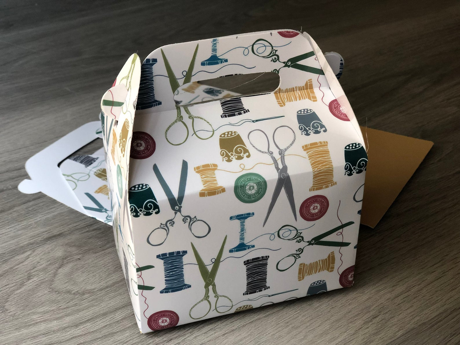 Sewing Themed Party Favor Boxes / Treat Boxes / Gift Boxes