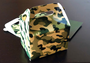 Camouflage Army Military Favor Boxes Favor Boxes / Treat Boxes / Gift Boxes