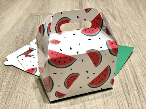 Watermelon Pattern Favor Boxes / Treat Boxes / Gift Boxes