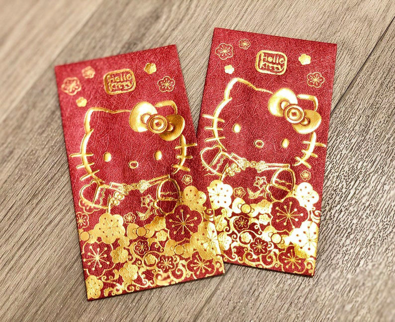 Sanrio Hello Kitty Red Money Envelopes / Hong Bao / Ang Pao / Red Packets