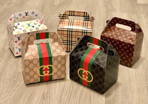 Mini Gucci / Louis Vuitton / Burberry / Chanel Fashion Favor Boxes / Treat Boxes / Gift Boxes