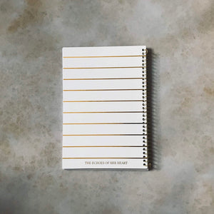 The meditations of my heart journal (White)