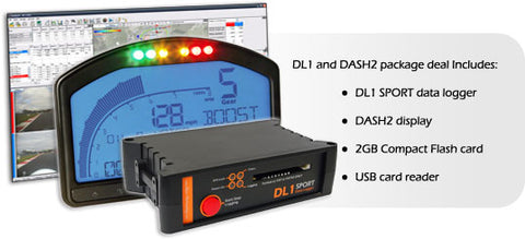 Race Technology DL1 SPORT Data Logger + DASH2 Package