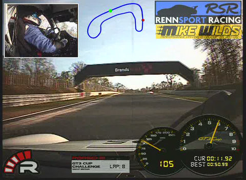 Racelogic Video VBox Lite 2 Camera Porsche GT3 Cup Car System