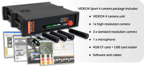 Race Technology Video4 Sport 4 Camera System