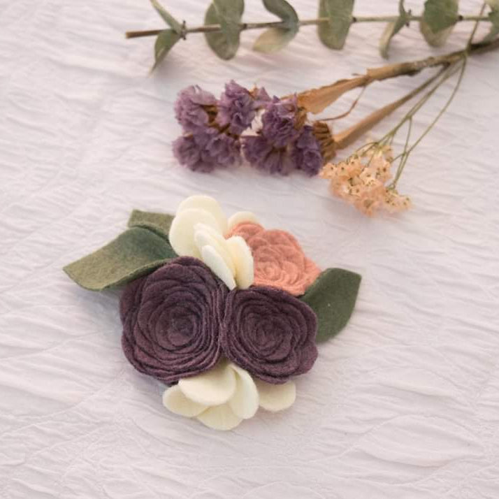 The Della bloom in Dusty Violet and Dusty Pink
