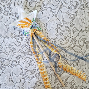 Custom Vintage Fabric Fairy Wand