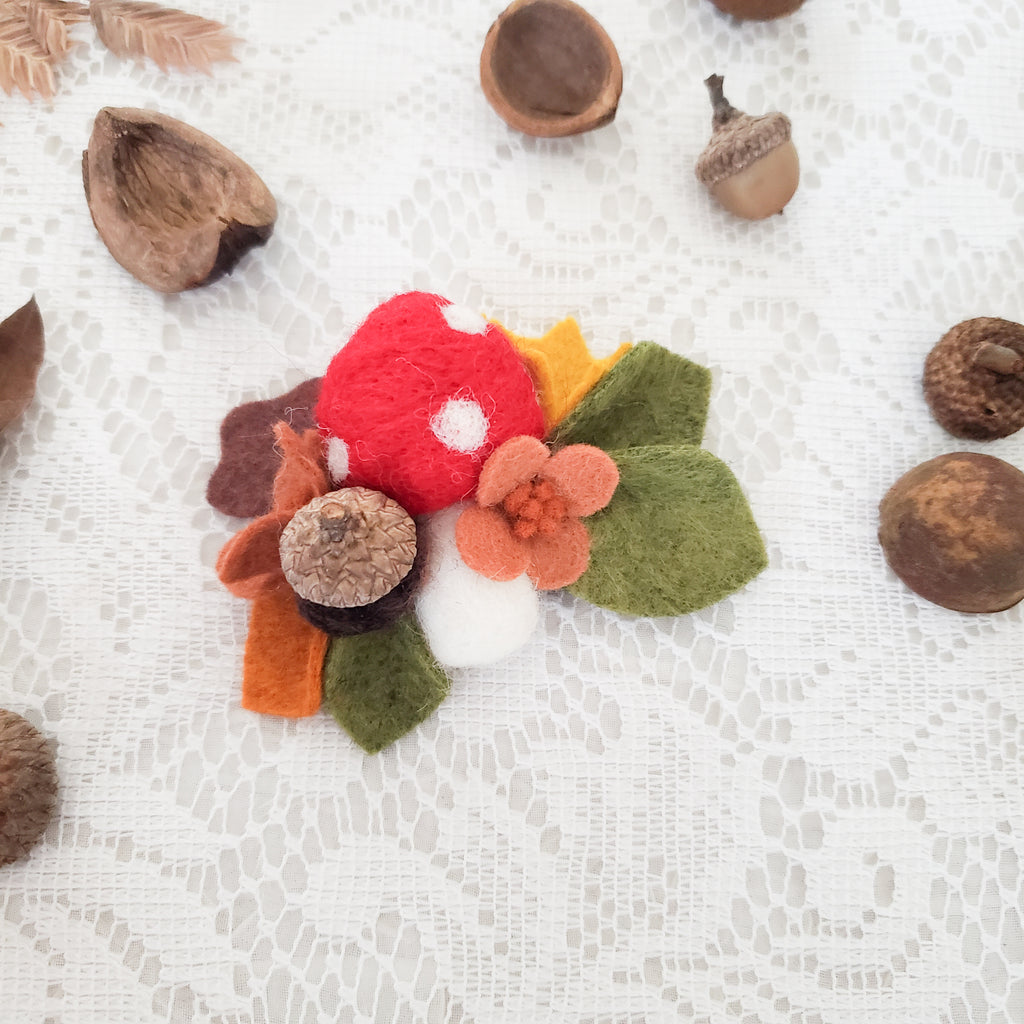 Woodland Mushroom Hair Accessory