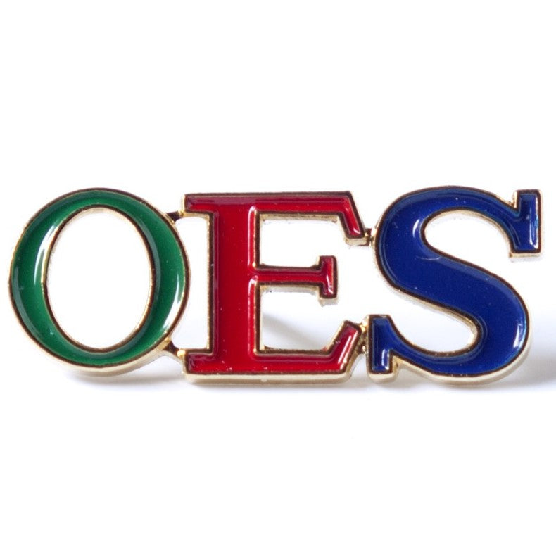 3 Letter Color Lapel Pin - OES