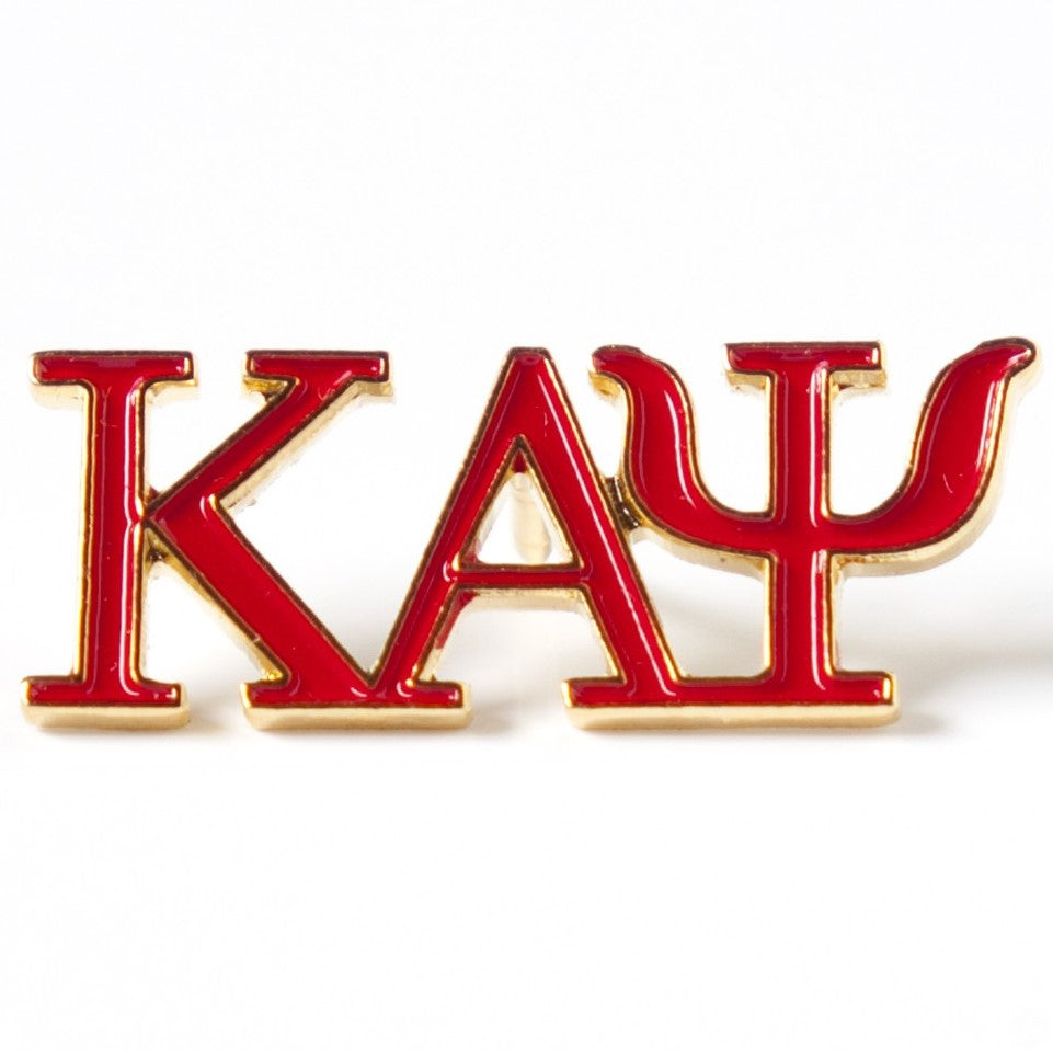 3 Letter Color Lapel Pin - Kappa