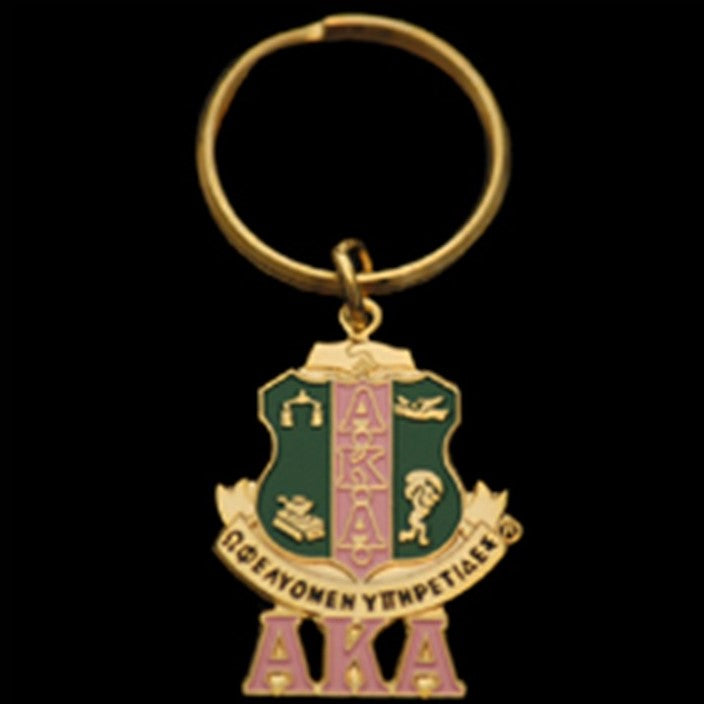 AKA Shield with Letters Key Chain